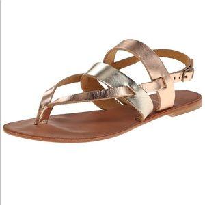 Joie a la Plage platinum rose metallic sandal